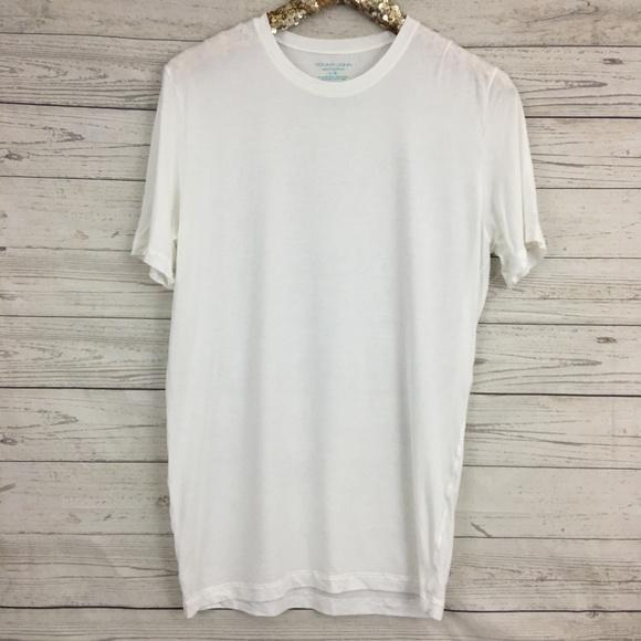 9f791bd84f44be Tommy John second skin crewneck white soft shirt. M 5b19c19bbaebf647a7d0f15d